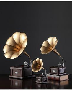復古風留聲機擺件民國上海古董唱片機老式懷舊道具宿舍裝飾小物件