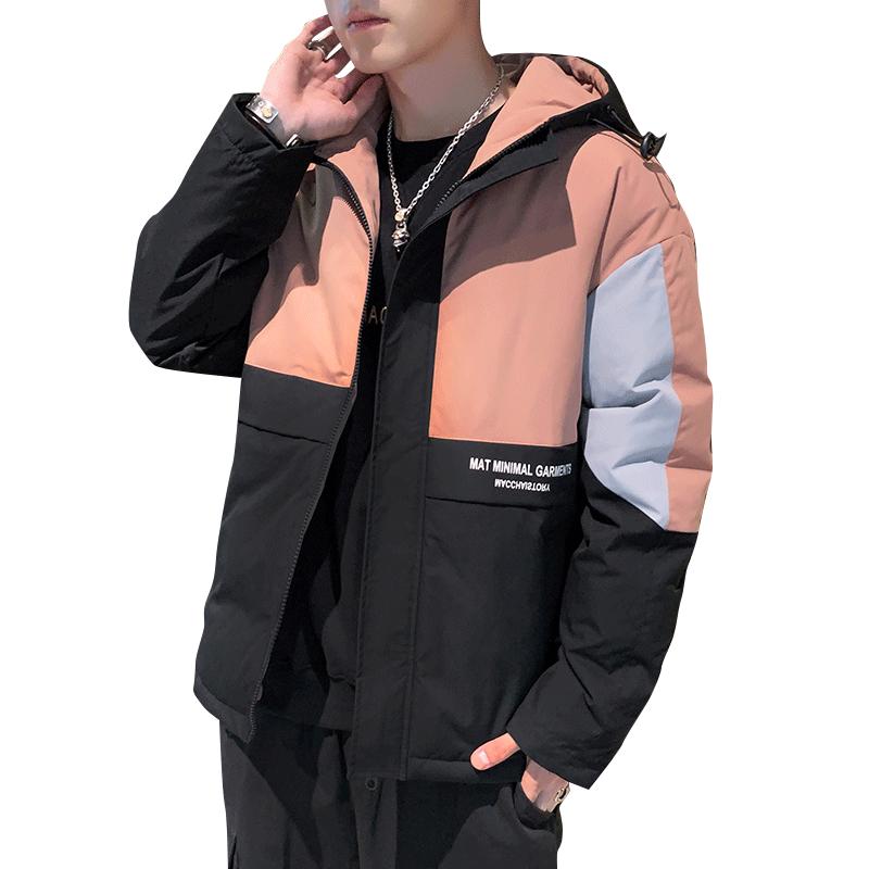 冬季新款棉衣男士新款韩版连帽羽绒棉服外套潮牌加厚保暖棉袄