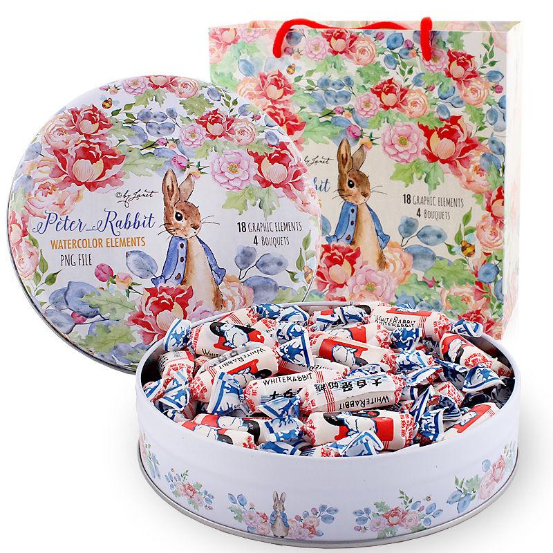 大白兔奶糖礼盒装冠生园生日情人圣诞礼物零食糖果114-520克