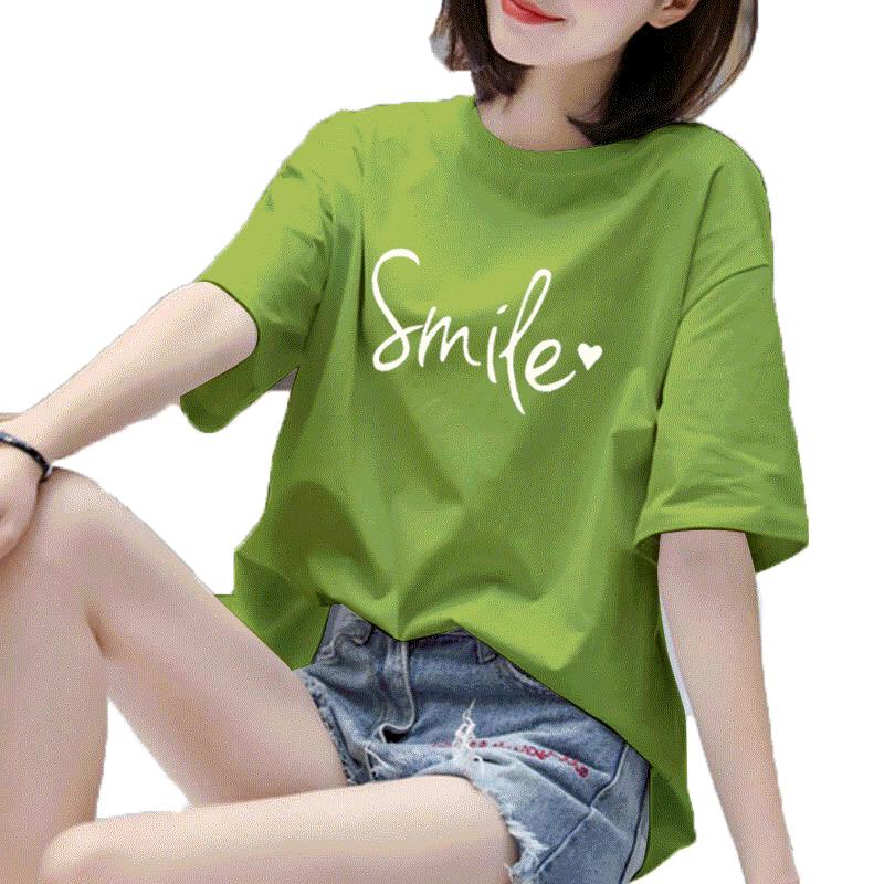 加肥加大码学生短袖t恤女夏韩版加肥胖mm宽松显瘦白色半袖上衣服