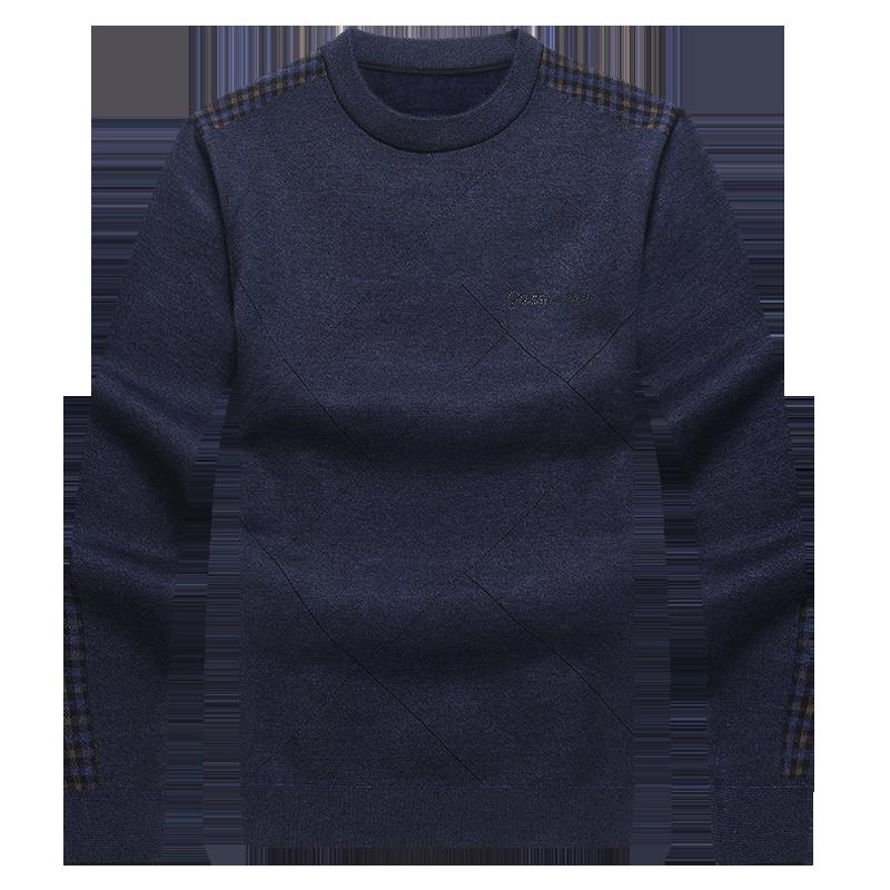 【品质货】秋冬中年男士加绒加厚毛衣