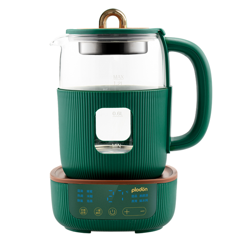 美国浦利顿恒温热水壶婴儿调奶器全玻璃壶温奶器全自动冲泡奶神器