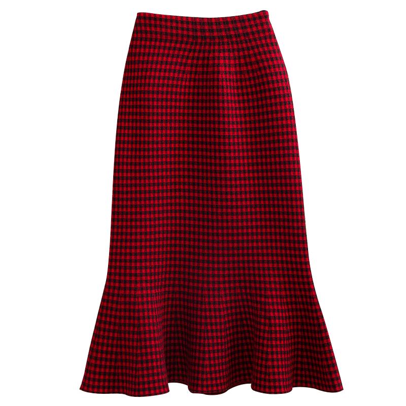 【格妮婷】针织半身裙新款a字裙鱼尾裙