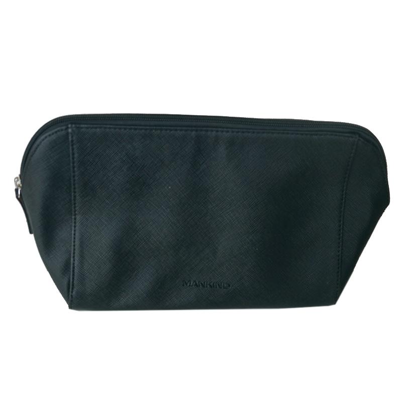现货 英国 lookfantastic 大号 PU皮 黑色化妆包 大容量帆布包