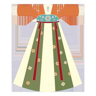 烏扣.沐清 女童漢服秋裝新款兒童中國風超仙古風童裝仙女古裝襦裙