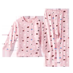 彩棉儿童内衣套装纯棉中大童冬睡衣