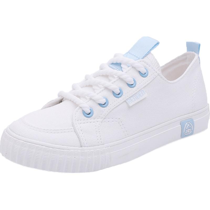 人本春秋季女学生百搭球鞋帆布鞋用后评测