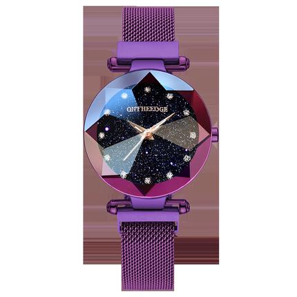 正品帝兹网红同款星空时来运转手表