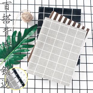黑白格子條紋背景布 ins簡約桌布擺拍蓋拍照攝影道具網紅直播開箱