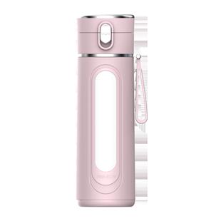 百唯亞雙層玻璃杯女防摔防燙家用便攜ins簡約清新森系可愛水杯子