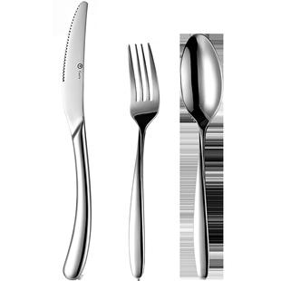 吃牛排的刀叉三件套西餐套裝北歐餐具刀勺全套兩家用盤西餐具盤子