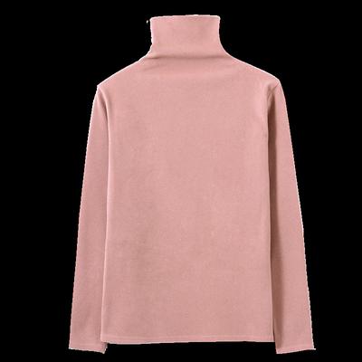 黑白色半高堆堆领打底衫女秋冬2019洋气长袖t恤加绒加厚内搭修身