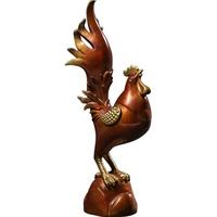 吉善堂 一鸣惊人 铜鸡摆件金鸡大公鸡生肖鸡创意礼品书房桌面装饰