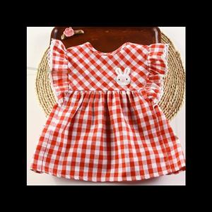 时尚棉可爱婴幼儿公主罩衣夏季吃饭儿童新款裙式外穿围兜婴儿无袖
