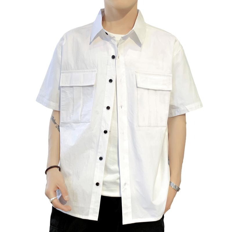 2019夏季新款男士短袖t恤潮流衣服男装一套搭配帅气休闲套装潮牌