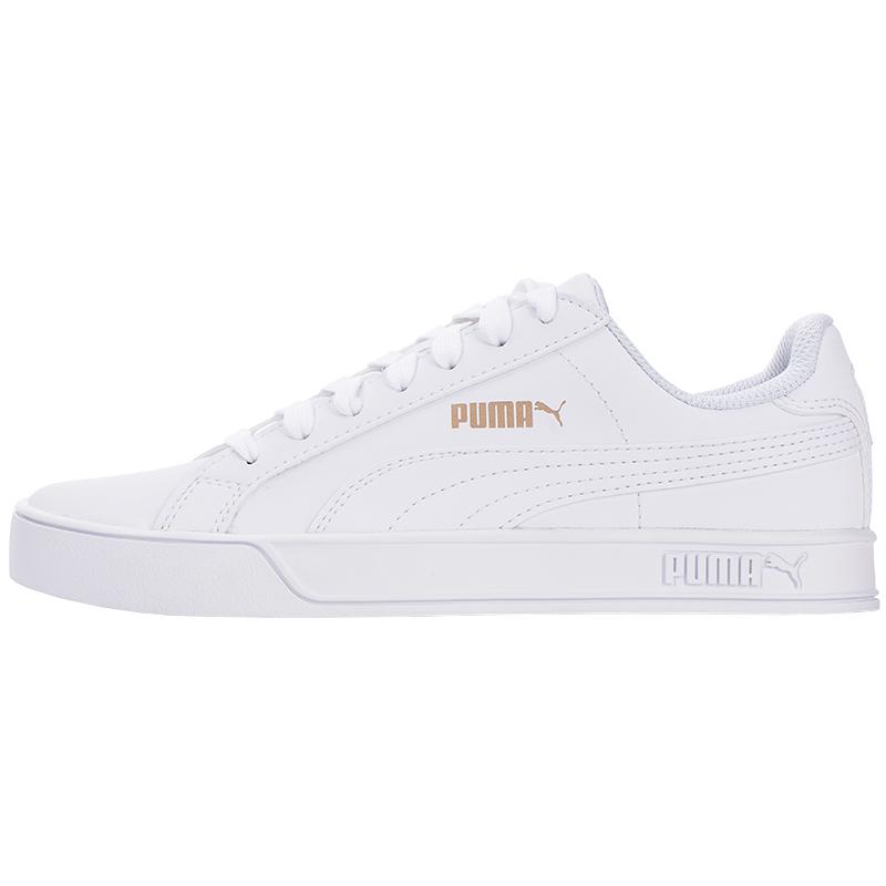 Puma彪马白色金标小白鞋女新款百搭运动休闲板鞋帆布鞋359622-16