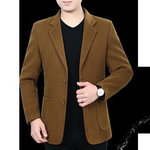 中年男休闲秋冬季宽松纯色中老年装