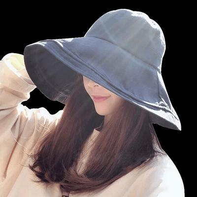 双面可戴时尚防晒渔夫帽