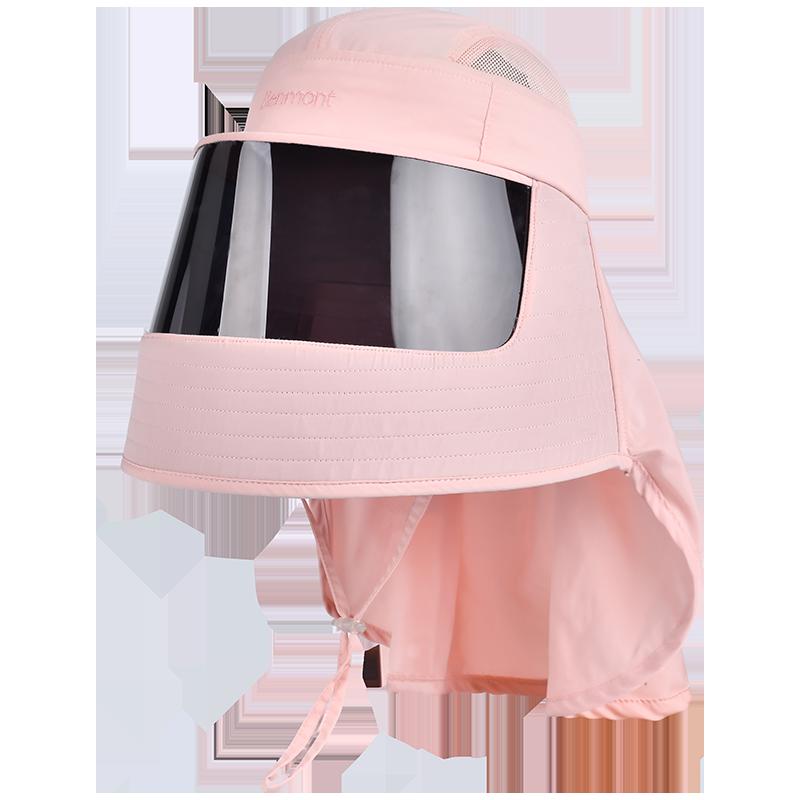 卡蒙女夏季防护帽子防唾沫防尘遮阳帽女防晒防紫外线遮脸防飞沫罩