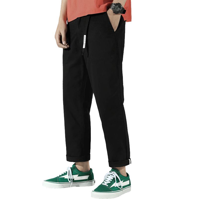 xoopn夏季直筒九分裤休闲男裤