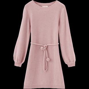 茵曼中長款毛衣裙過膝新款2020秋裝外穿冬季裙子打底針織裙連衣裙