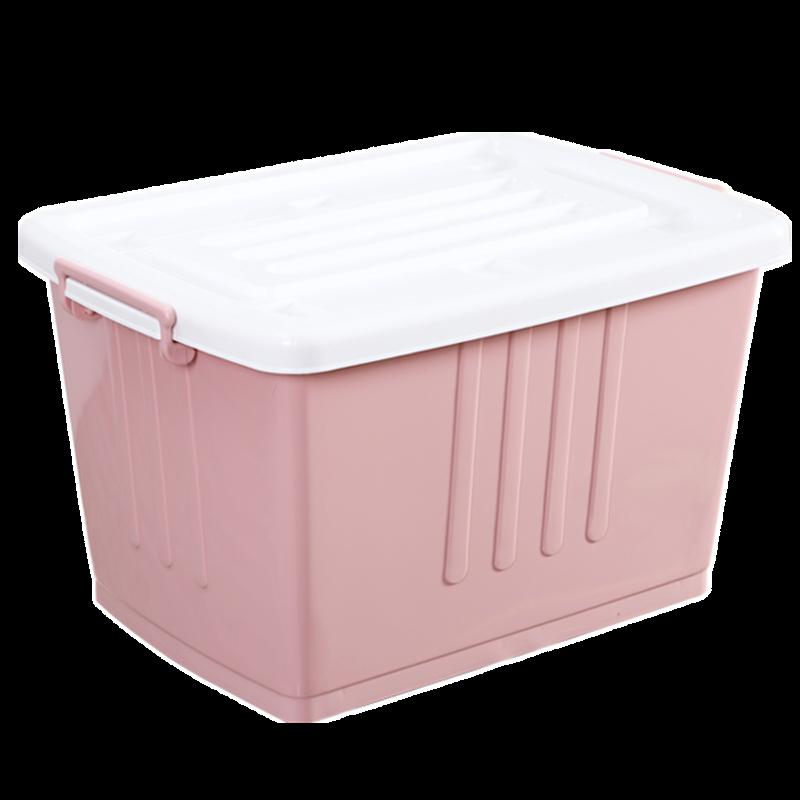 整理箱收納箱特大號塑料加厚抗壓特厚家用帶輪被子衣服車載儲物箱