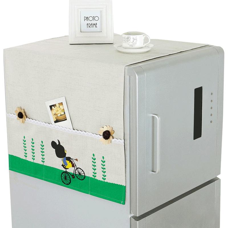 小清新韩版田园单开多用冰箱防尘罩质量如何