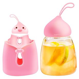 物生物便攜玻璃杯女創意奶茶杯可愛透明夏天網紅學生小仙女水杯子