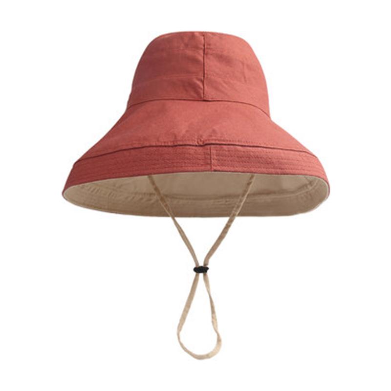 韩国帽子全棉纯色渔夫帽女夏天防晒太阳帽出游休闲百搭遮阳帽盆帽