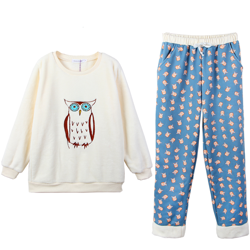 【全尺码一个价】加厚保暖法兰绒睡衣套装