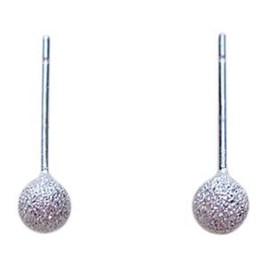 纯银豆豆夏小众设计磨砂圆珠感耳钉