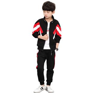 兒童裝男童秋裝套裝2020新款中大童洋帥氣男孩春秋季三件套韓版潮
