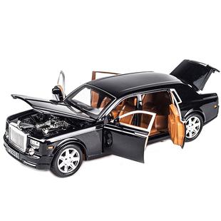 仿真勞斯萊斯幻影合金模型車大號兒童合金玩具車聲光1:24汽車模型