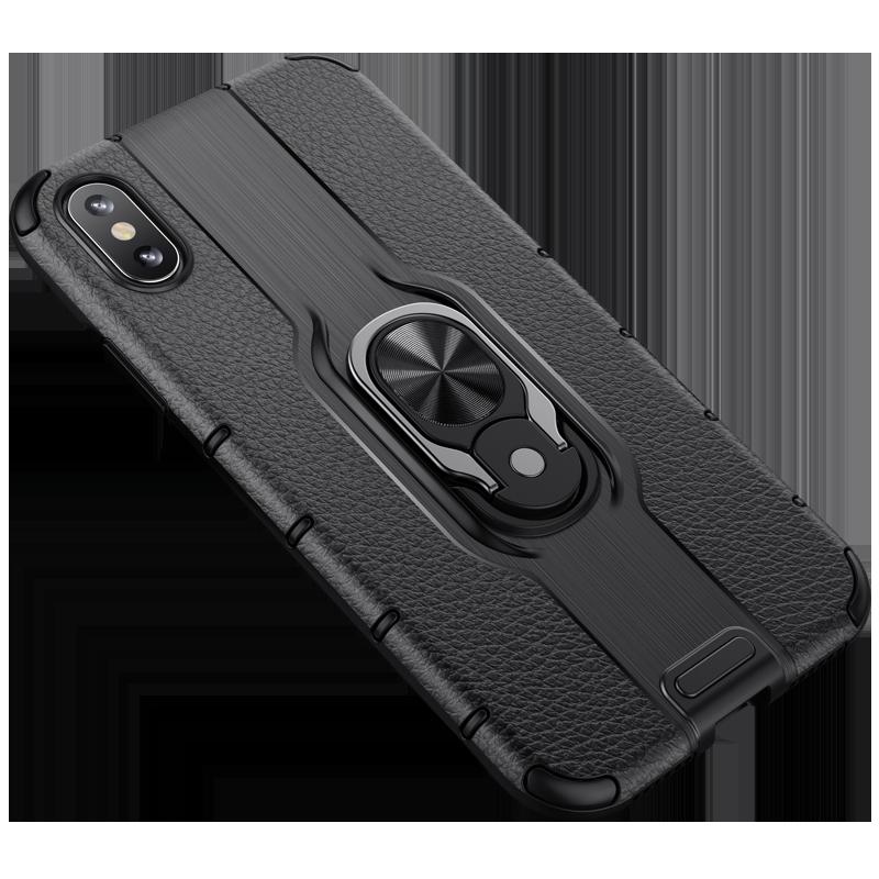 苹果7/8/X手机壳6P iphone7plus 6s xsmax气囊防摔硅胶保护套指环