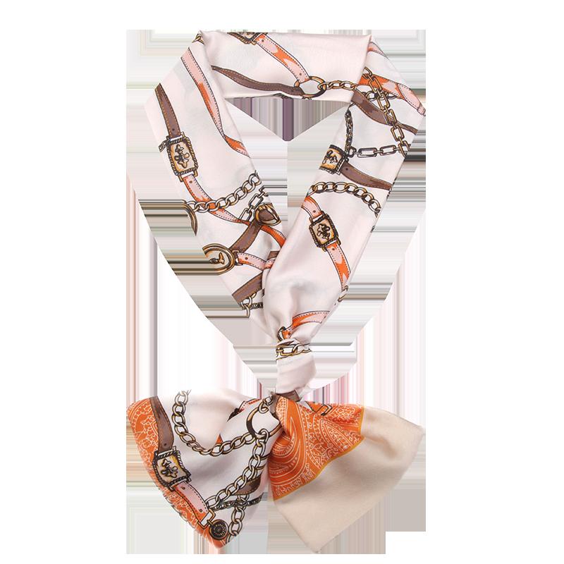 小丝巾女冬季2019年长款百搭秋冬领巾长条冬款洋气时尚长款窄围巾