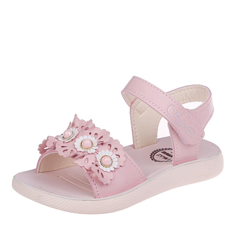 女童凉鞋2019新款夏季儿童软底防滑小学生公主鞋中童小童沙滩鞋