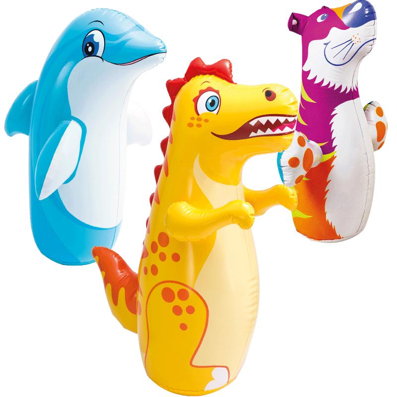 INTEX充气不倒翁玩具女宝宝早教益智大号婴儿童小孩玩具0-1-2-3岁