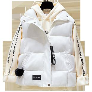 2020年新款棉馬甲女韓版秋冬羽絨棉服背心麪包服外穿馬夾冬季外套