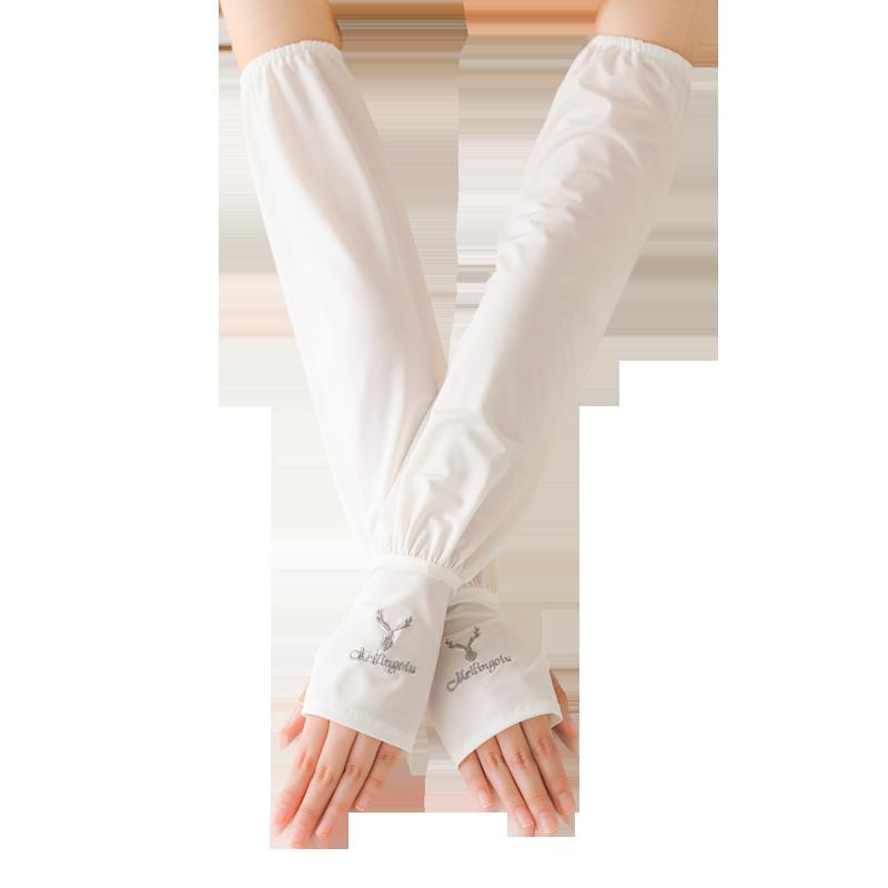 夏季冰防晒冰丝护臂宽松版袖子手套