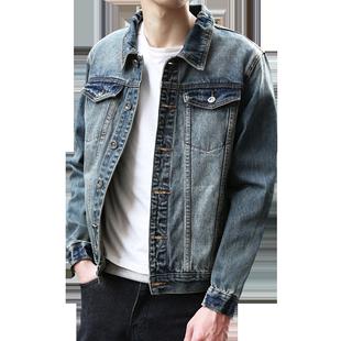 男士牛仔外套潮牌歐美街頭上衣2020春秋新款韓版潮流ins寬鬆夾克