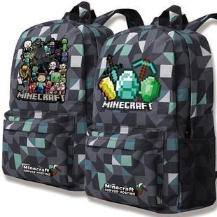 我的世界動漫二次元苦力怕書包小學生中學生雙肩包男女電腦旅行包
