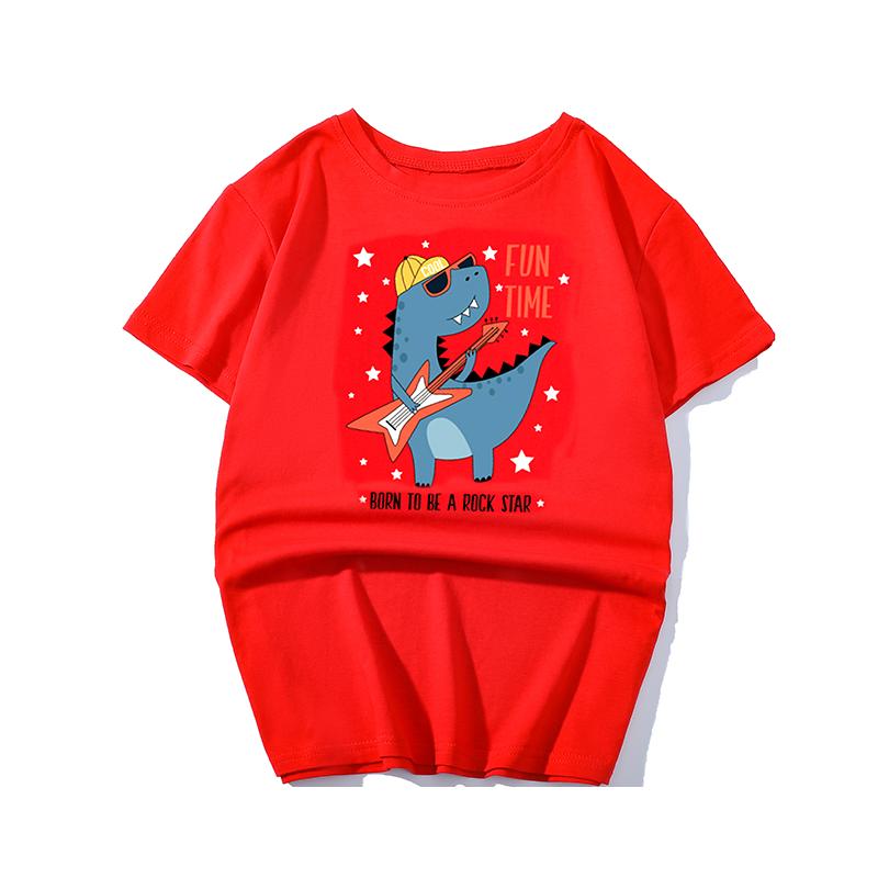 2020夏装新款男童短袖T恤儿童潮童装中大童宽松纯棉半袖韩版上衣4