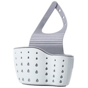 厨房水槽沥水篮塑料龙头挂墙置物架