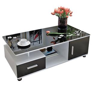 茶几簡約現代小户型家用鋼化玻璃茶桌客廳桌子簡易創意茶几桌茶台