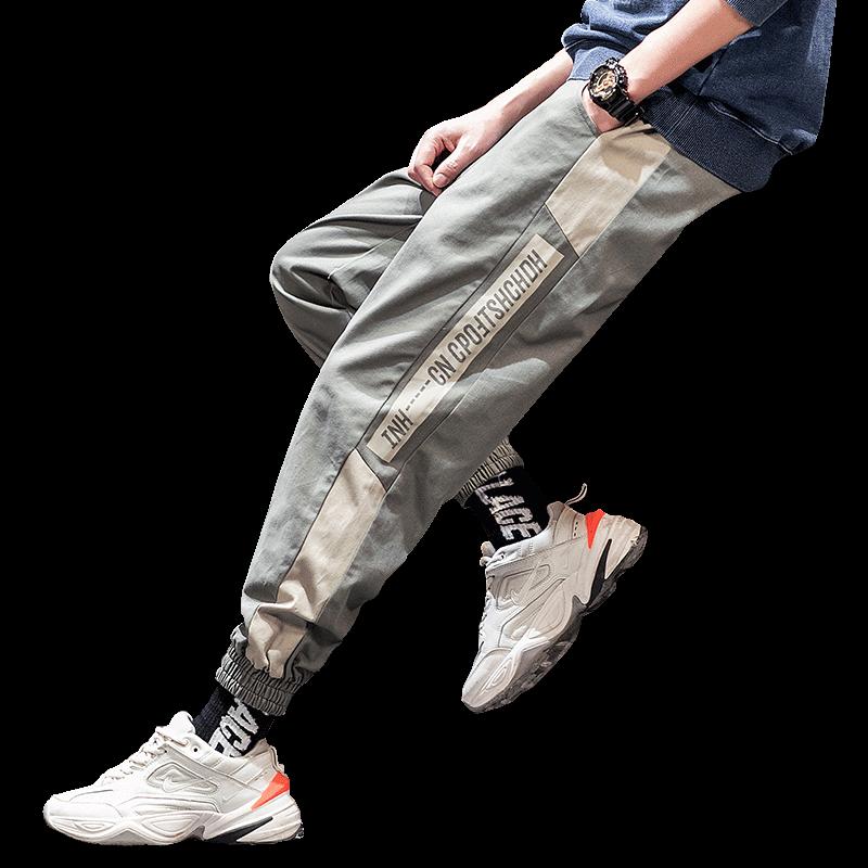 【高品质】男士纯棉工装九分长裤