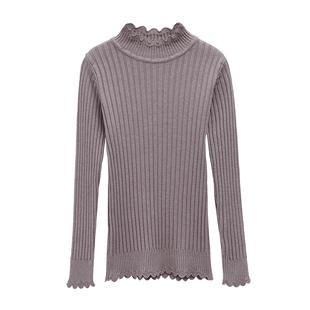 半高领秋冬新款短款打底衫长袖毛衣
