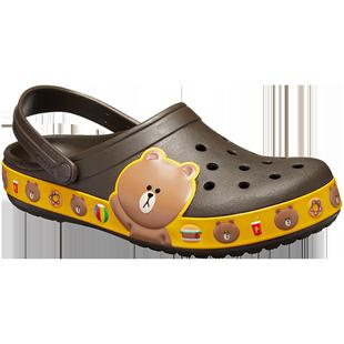 Crocs洞洞男卡駱馳LINE Friends卡駱班女沙灘涼鞋|205791