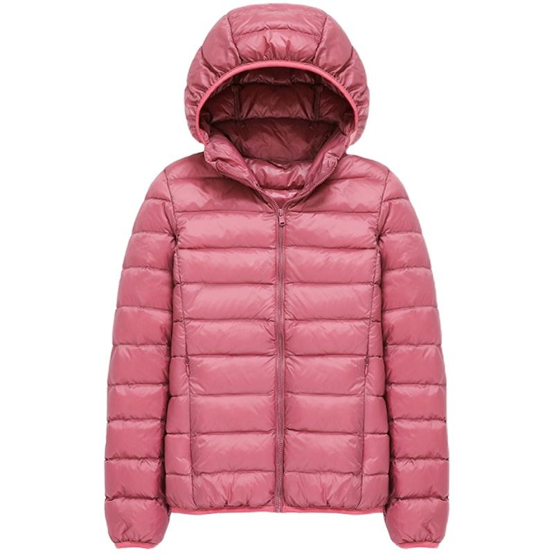 反季轻薄羽绒服2020年新款女短款清仓特卖冬季连帽白鸭绒轻便外套