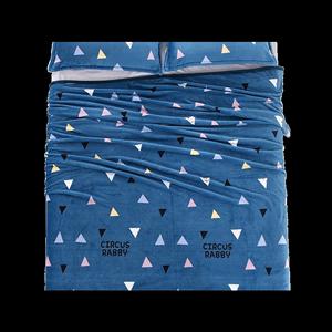 毛毛床单短毛绒冬季蓝色垫毯法兰绒