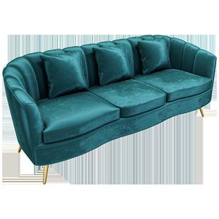 北歐服裝店鐵藝沙發簡約現代網紅ins美容院休息區單人輕奢沙發椅